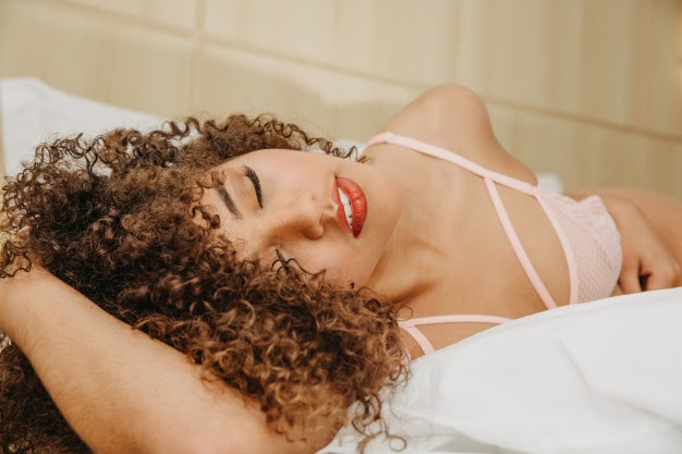 latin Colombian beautiful-young woman with curly hair