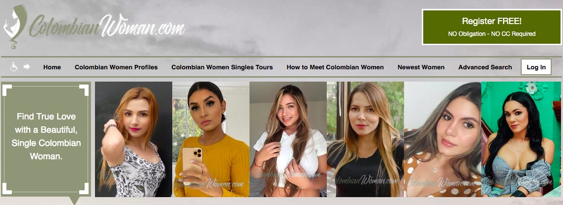 ColombianWomen main page